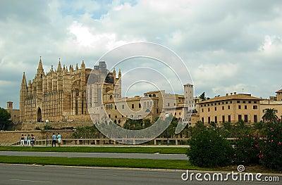La cathédrale en Palma de Mallorca, Espagne