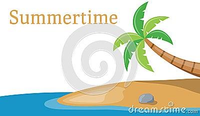 Palmier sur le drapeau de mer