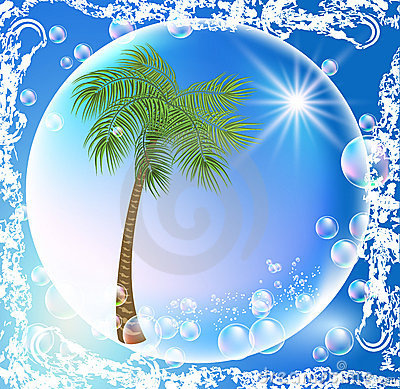 Palms and bubbles