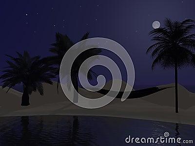 Palms and hammock