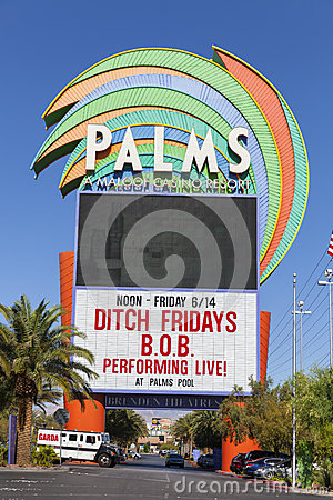 The Palms Hotel sign in Las Vegas, NV on June 14, 2013 Editorial Stock Image