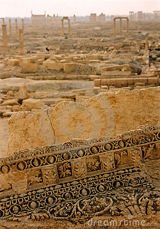 Free Palmyra Horizon Roman City Ruins Syria Stock Photography - 859472