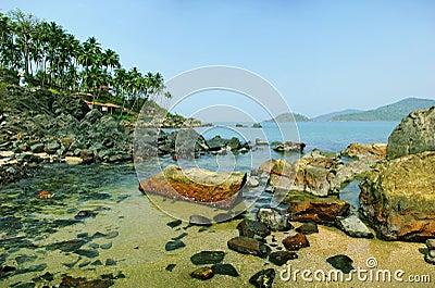 Palolem Beach lagoon, Goa