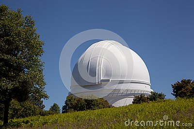 Palomar Mountain Observatory with oak