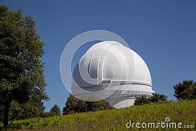 Palomar Mountain Observatory with oak
