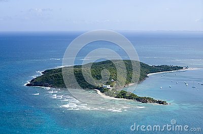 Palomino Island from the air Puerto Rico