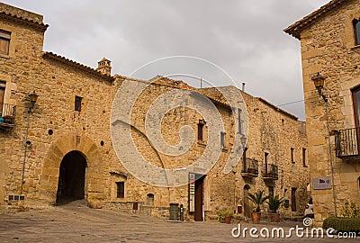 Pals medieval village main square