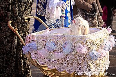 Pampered dog at Carnival Venice Italy