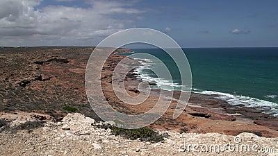 Pan Coastline Kalbarri, Australia occidental metrajes