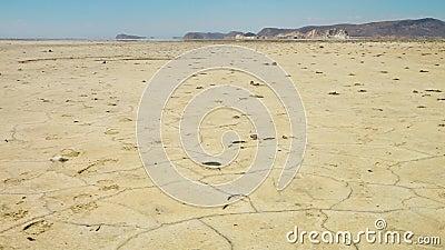 Pan der großen Salz-Wüste, der Iran stock video footage