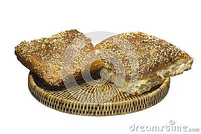 Pan en una cesta