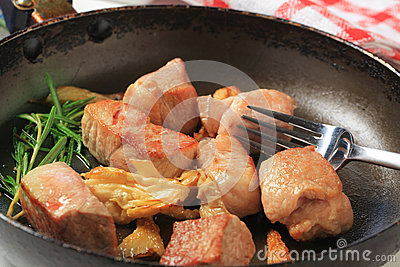 Pan fried pork
