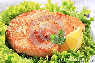 Pan fried salmon patty