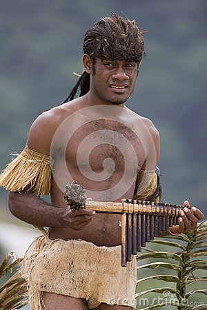 Pan Piper from Solomon Islands Editorial Photography