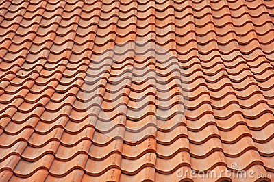 Pan tile roof background