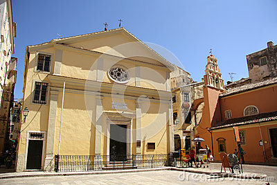 Panagia Faneromeni church in Corfu Town (Greece) Editorial Image