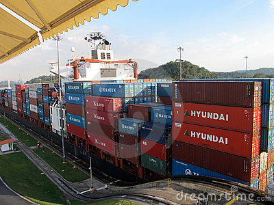 Panama Canal Editorial Stock Image