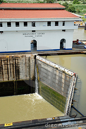 Panama Canal closed locks