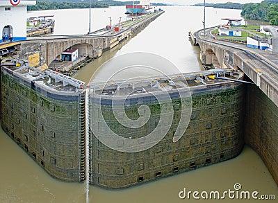 Panama Canal lock gate