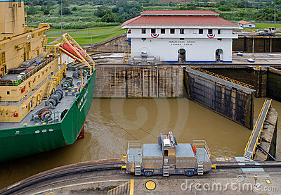 Panama Canal Mule train Editorial Photo