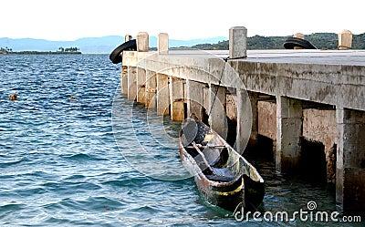Panama cayuca boat Porvenir Island