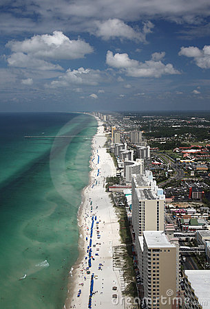 Free Panama City Beach - Aerial Royalty Free Stock Images - 15333669