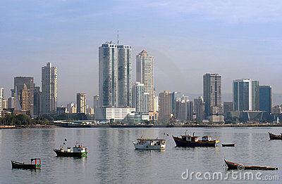 Panama city buildings coastline