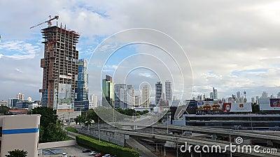 PANAMA CITY - JAN 1: Panamas häpnadsväckande syn på Panama City, Panama den 1 januari 2020 är lager videofilmer