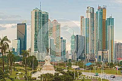 Panama City skyline. Editorial Image