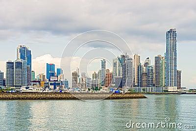 Panama City skyline. Editorial Stock Image