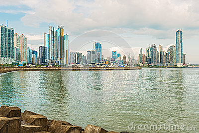Panama City skyline. Editorial Photography