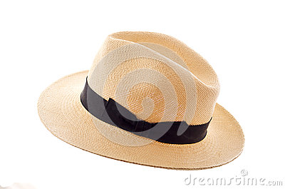 Panama hat isolated