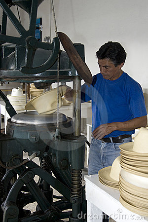 Panama Hat production - Ecuador Editorial Stock Photo