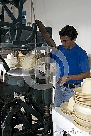Panama Hat production - Ecuador Editorial Stock Photo