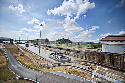 Panama kanal Redaktionell Foto