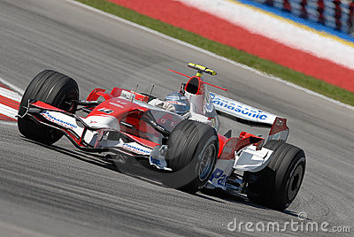 Panasonic Toyota Racing TF107  Editorial Stock Photo