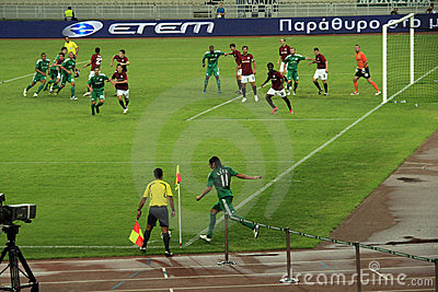 Panathinaikos Athens vs. Sparta Praha Football Editorial Stock Photo