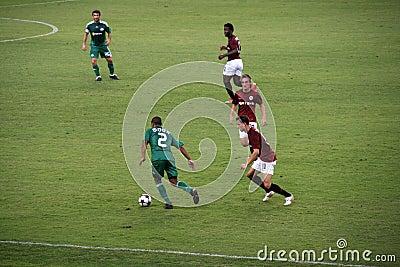Panathinaikos contro gioco del calcio di Sparta Immagine Stock Editoriale