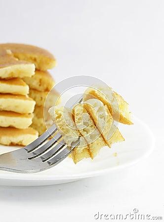 Free Pancake Bite Royalty Free Stock Image - 21191506