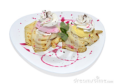 Pancake con crema