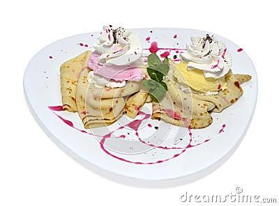 Pancake with cream