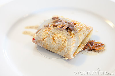 Pancake with pine nuts