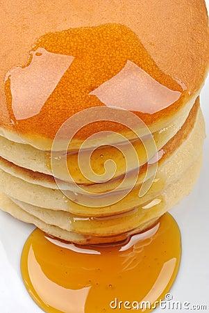 Pancake and some sweet honey