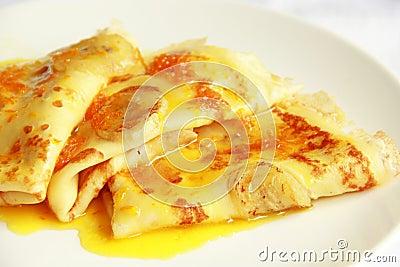 Pancakes With Bananas Stock Photo - Image: 41134130