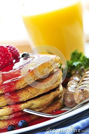 Free Pancakes Breakfast Royalty Free Stock Images - 6669839