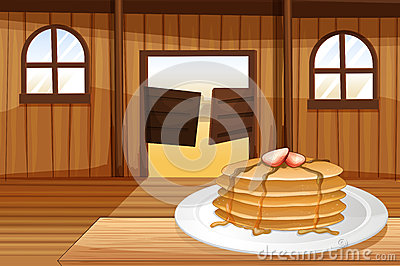 Pancakes in a plate