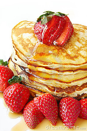 Free Pancakes With Strawberries Royalty Free Stock Images - 6264879