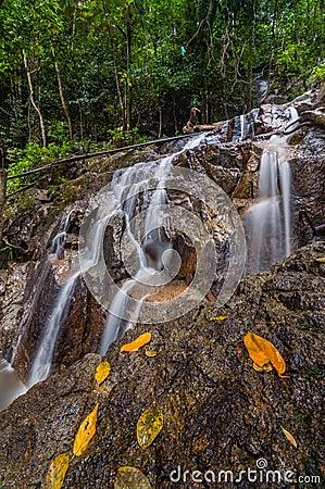 Free Panchur Waterfall Kenyir From Light Vertical View Stock Photos - 41491053