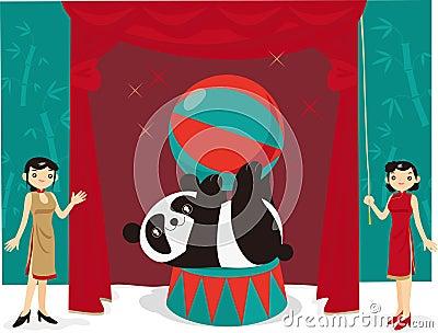 Panda acrobatic show