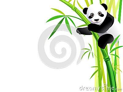 Panda On Bamboo Royalty Free Stock Photos Image 29351628